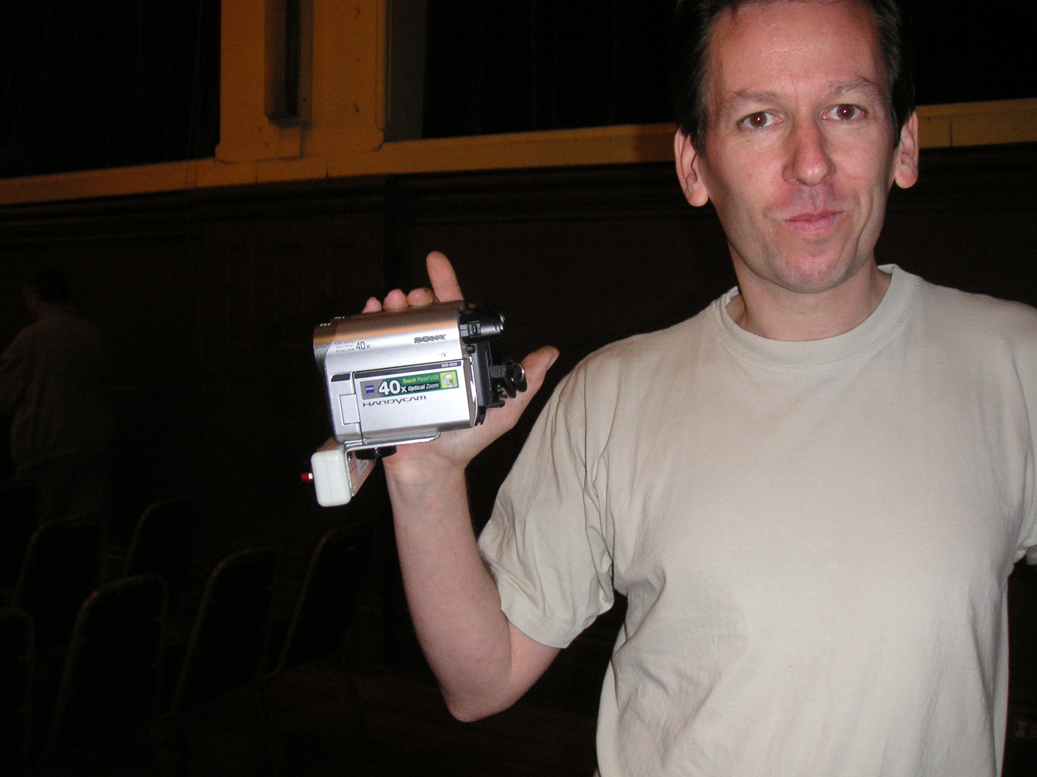 Tiv Paul Tivy With His 3D Video Rig